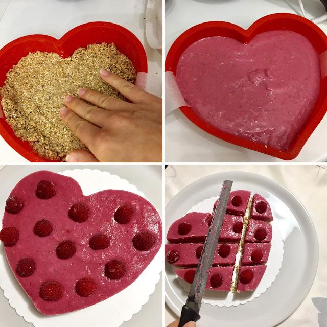 como se hace la tarta de yogur y frambuesas