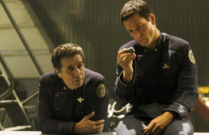 Bill e Lee Adama, de Battlestar Galactica