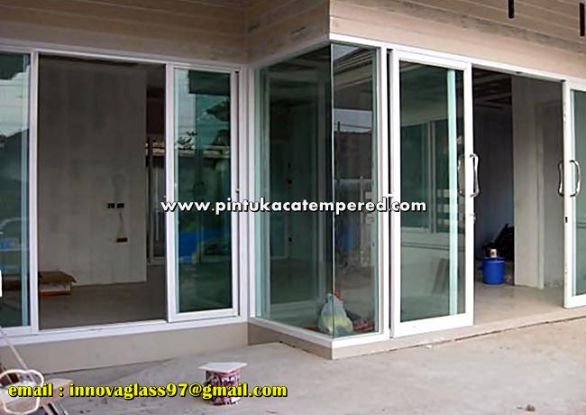 Pintu Kaca Aluminium Rumah Minimalis