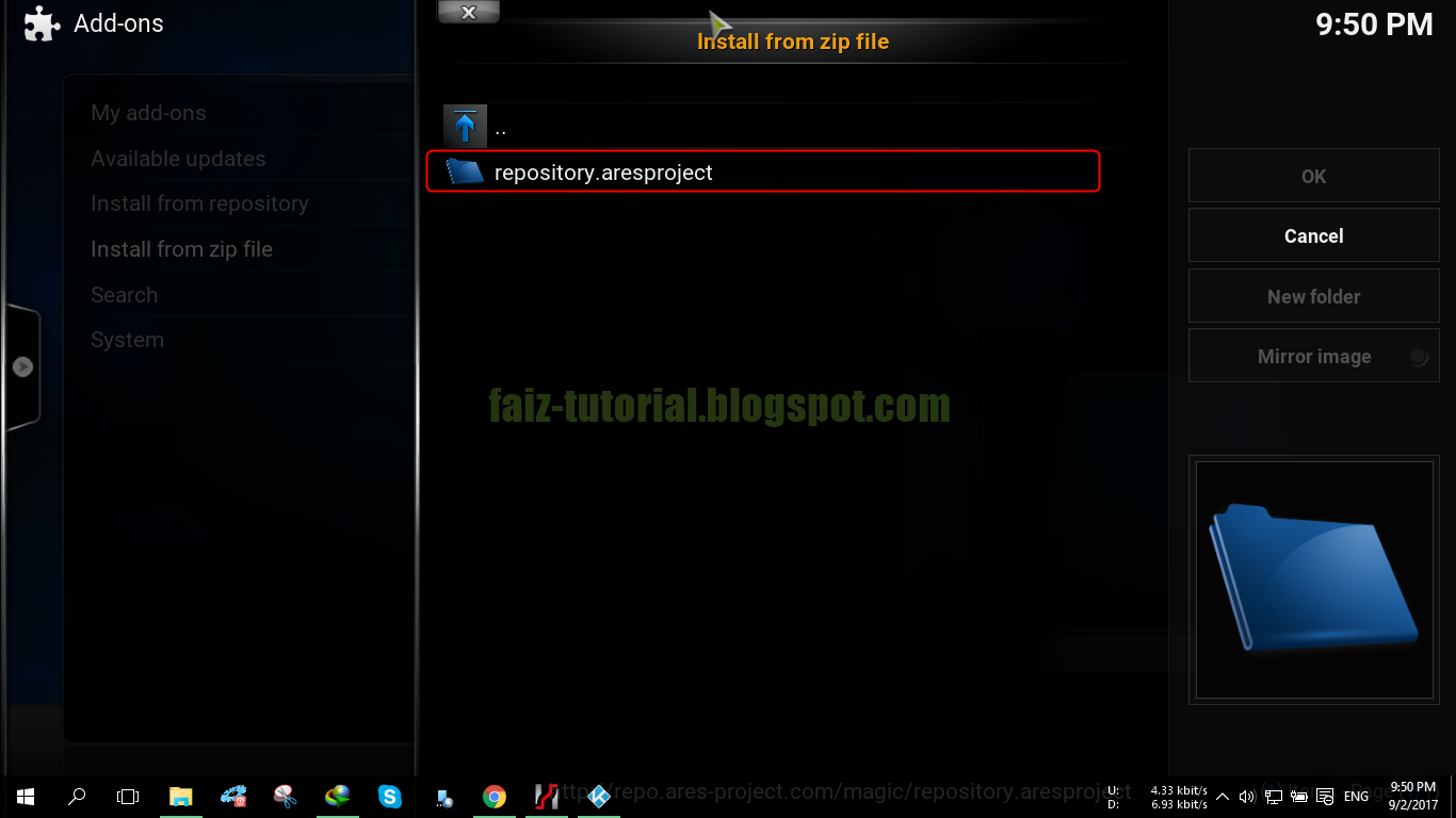how to add ares repo to kodi