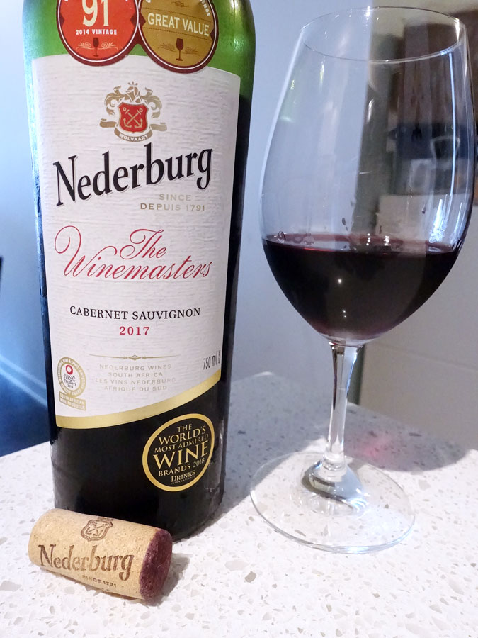 Nederburg The Winemasters Cabernet Sauvignon 2017 (87 pts)