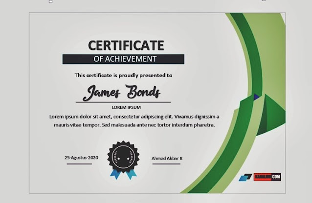 Download bingkai sertifikat ms word