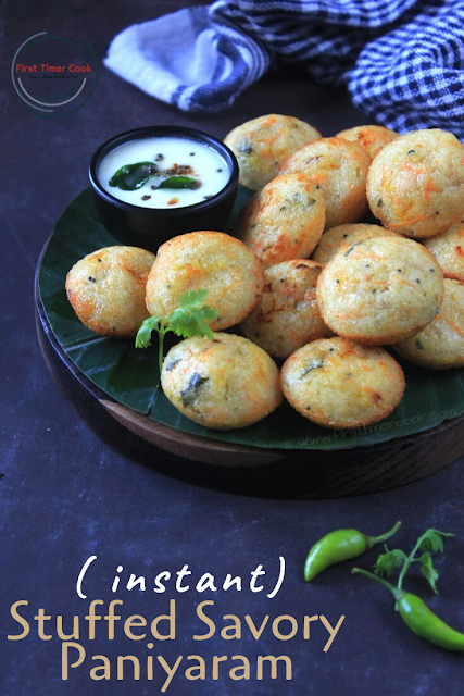 Stuffed Savory Paniyaram (INSTANT appe)