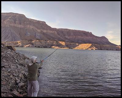 Fishing at Millsite Reservoir