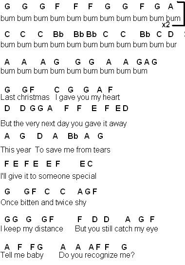 Flute Sheet Music December 2011