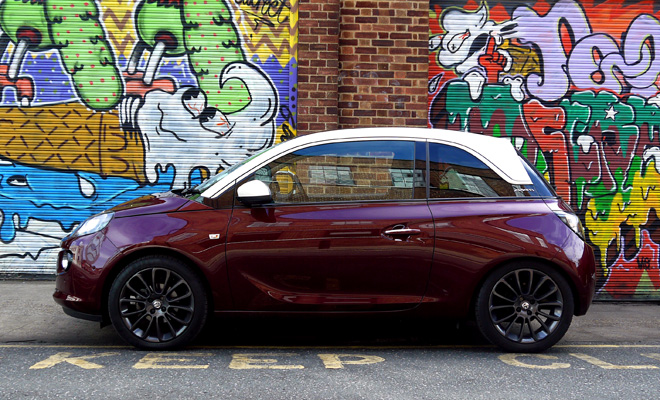 Vauxhall Adam side view