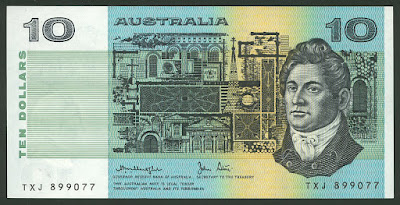 Australian banknotes Ten Dollars bill money pictures images photos