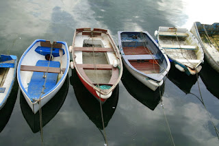 Photo of rowboats by Ali Taylor