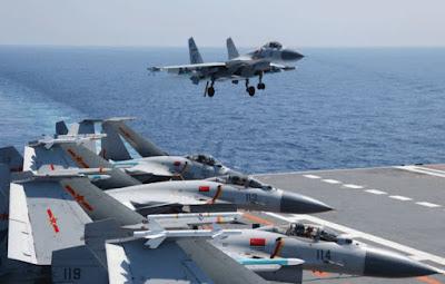 J-15 and Shandong Aircraft Carrier