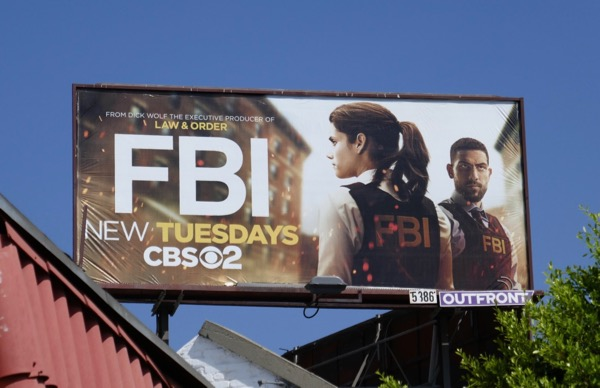FBI series launch billboard
