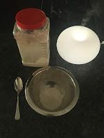 Mélange sel et farine pour réalisation peinture gonflante , DIY