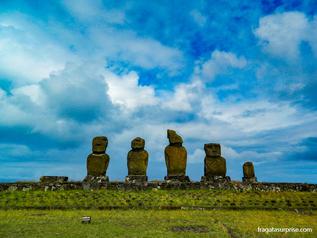 Moai, os gigantes de pedra da Ilha de Páscoa