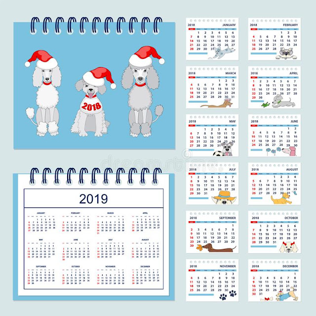 Printable Blank Calendar 2019 for Kids