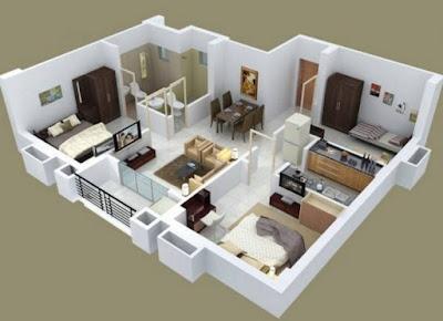 desain rumah sederhana 3 kamar 1 lantai terbaru