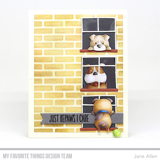 Handmade card by Jane Allen featuring products from My Favorite Things #mftstamps