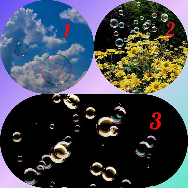 Тест: Выберите мыльные пузыри, а мы расскажем от чего вам стоит избавиться Фото Эзотерика Тест спокойствие реальность негатив выбор