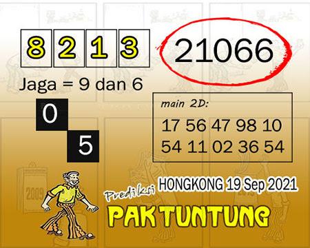 Prediksi Pak Tuntung HK Minggu 19 September 2021