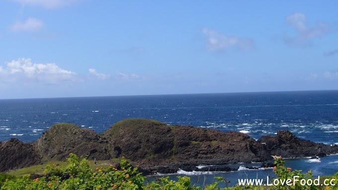 澎湖七美-望夫石-壯觀的柱狀玄武岩地質景觀 形似仰臥海面上的孕婦-wang fu shi