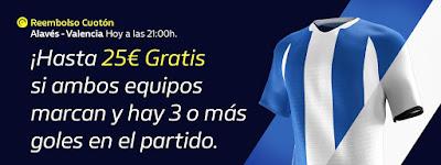 william hill Reembolso Alaves vs Valencia 6 marzo 2020