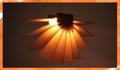 DIY งานประดิษฐ์โคมไฟจากกล่องกระดาษ