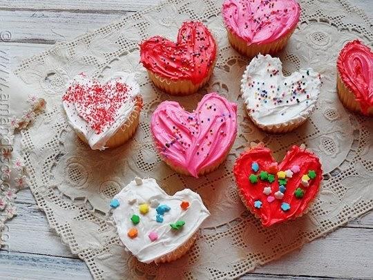 cupcakes con forma de corazon