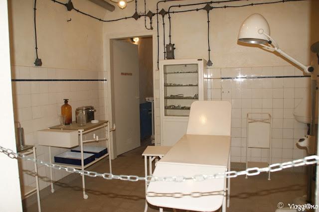 L'infermeria posta nel Forte di Schoenenbourg
