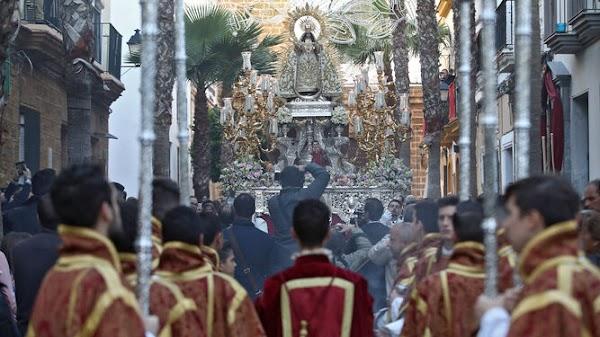 Suspendida la procesión de la Virgen de la Palma de Cádiz