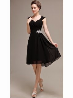 http://www.okbridalshop.com/black-short-bridesmaid-dress