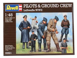 Figurines de la Luftwaffe WWII de Revell au 1/48.