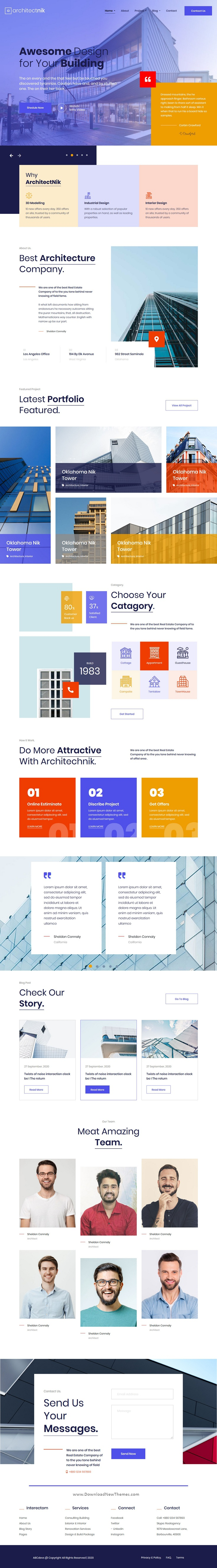 Modern Architecture & Interior Design Agency Template