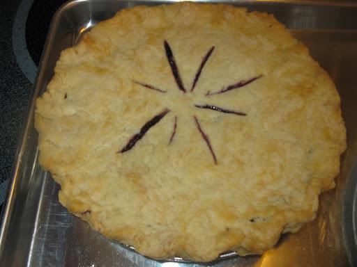 Wild Blueberry Pie.
