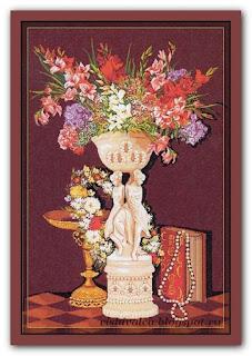 "Download embroidery scheme  Rogoblen 7.50 ""Romantic Corner"""