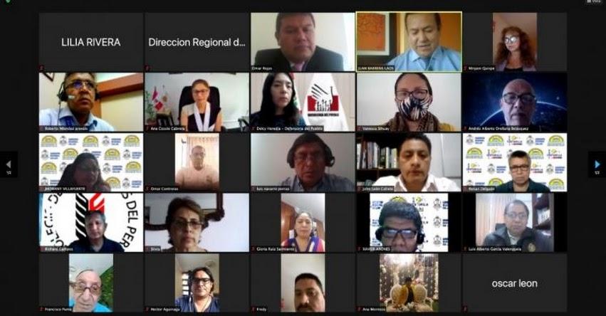 DRE Callao instaló equipo técnico multidisciplinario DREC