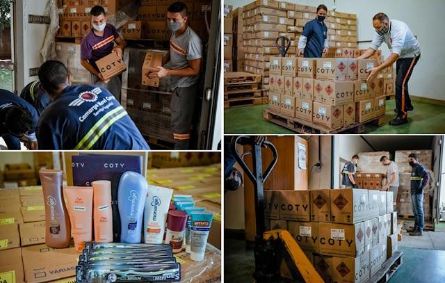 Grupo Coty doa a Prefeitura de Senador Canedo e ao Governo de Goiás 30 mil unidades de álcool gel e 50 mil itens de higiene