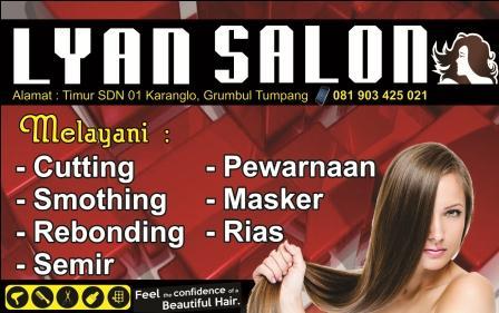 Desain Banner / Brosur Rias Salon cdr