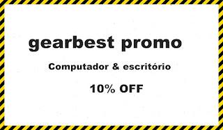 Computador & escritório 10% OFF gearbest promo