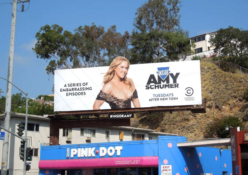 Inside Amy Schumer Comedy Central billboard