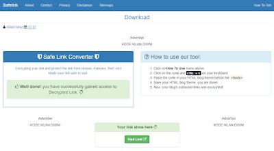 Cara Membuat Safelink Dengan Template Blog Sendiri