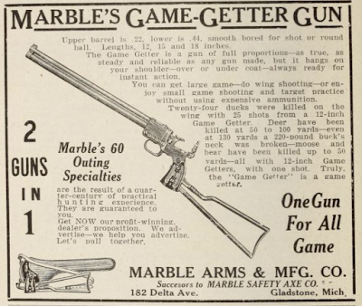 Antique Gun Ad Marble's Gamegetter