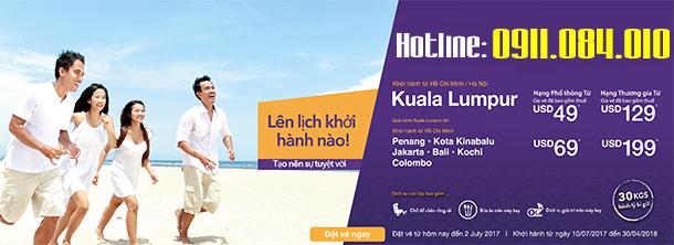 mua vé khuyến mãi Malindo Air chỉ từ 17 usd đến Kuala Lumpur