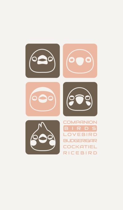 Companion Birds/Brown 14