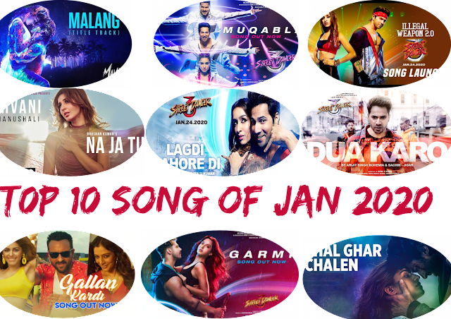 Top 10 Hindi/Punjabi Songs Of January 2020 | Lyricsdost.com