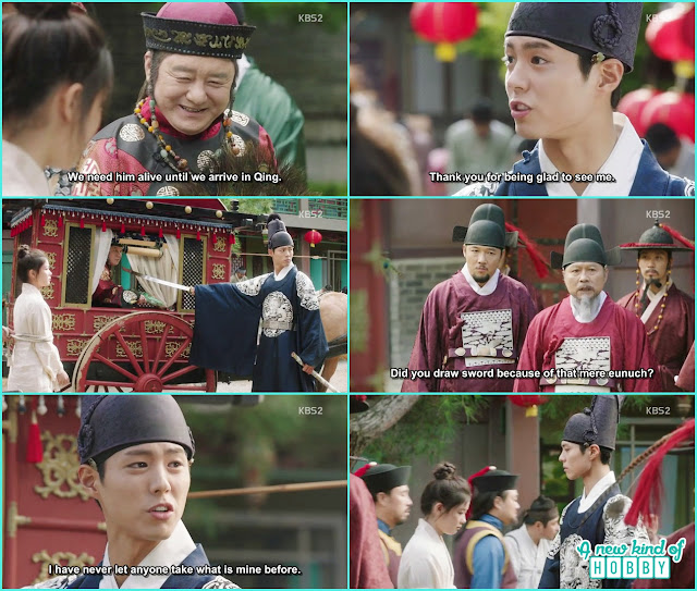 crown prince again put a sward on Qing to lave ra on here - Love in The Moonlight - Episode 6 Review