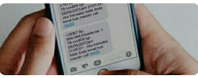 cetak ulang bukti transfer mandiri lewat sms banking