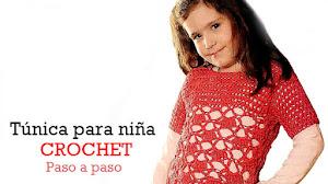 Túnica crochet para niña / Paso a paso
