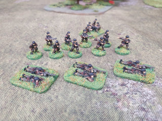 15mm German paratroop LMGs and Leaders