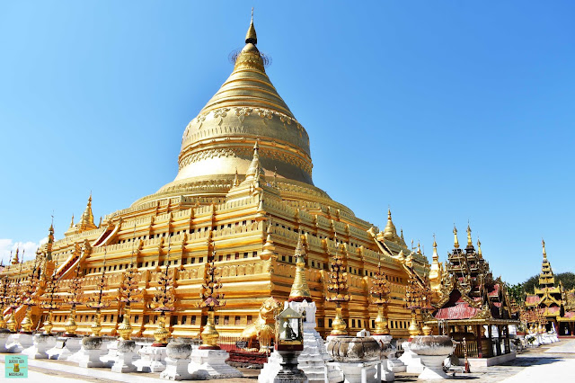 Shwezigon Pagoda en Nyaung U, Bagan