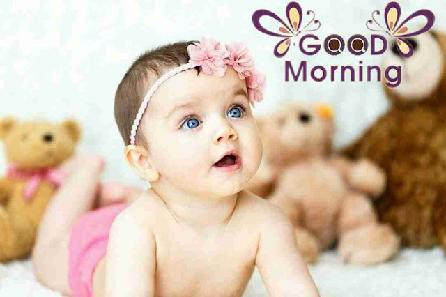 beautiful good morning image of cute baby girl