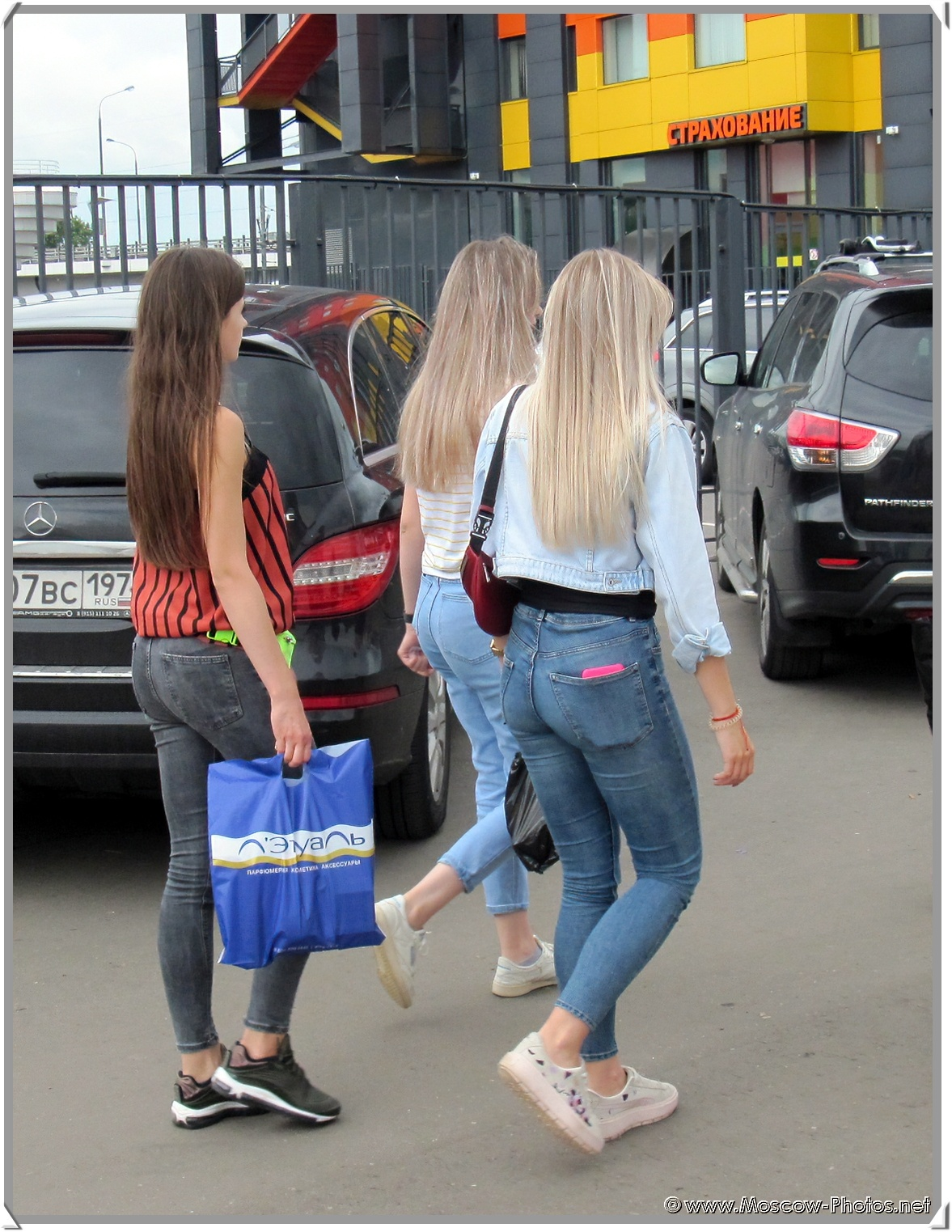 Russian Girls on the Moscow Street