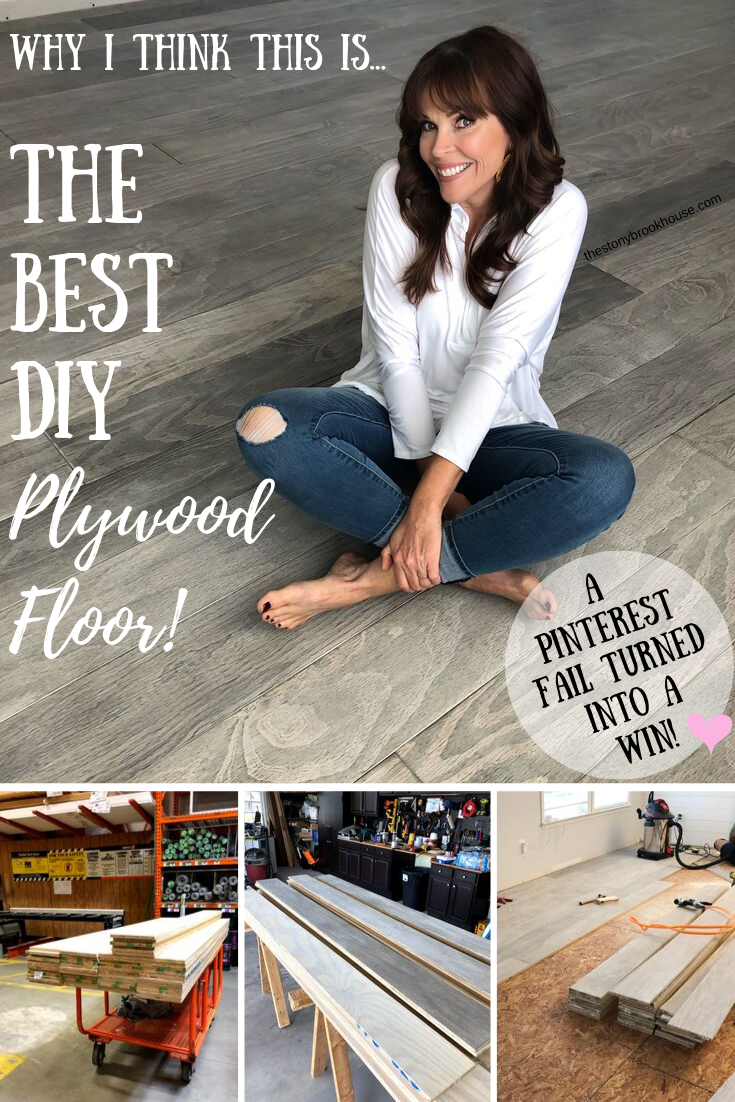 The Best DIY Plywood Floor